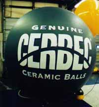 Advertising balloon-7ft. with logo. Great for promotions!